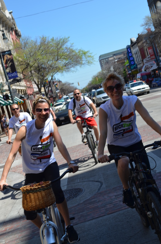 Companion Bike Seat volunteers riding bikes at SXSW