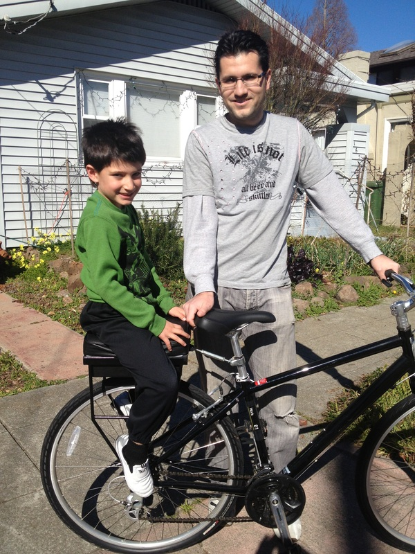 David and his son with Companion Bike Seat