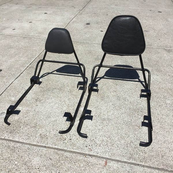 companion bike seat backrest prototypes side-by-side