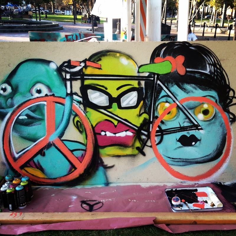velo art at Bike Life Festival 2014