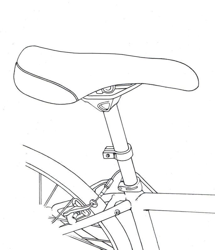 seat-post clamp in place