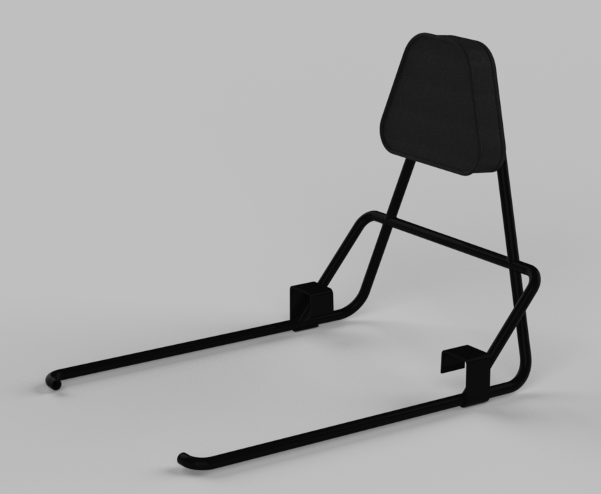 updated bike seat backrest rendering finalized design