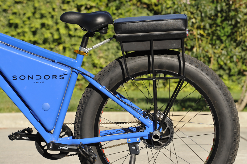 companion bike seat installed on a sondors ebike